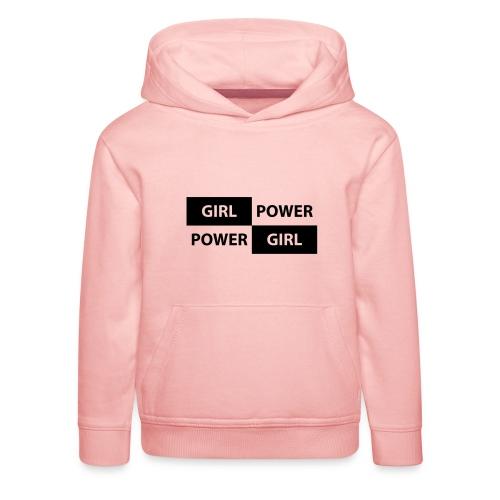 18 - Girl Power 004 - Premium hættetrøje til børn
