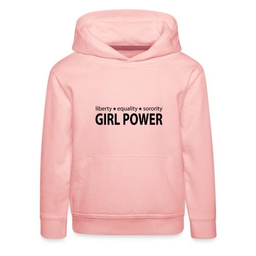 18 - Girl Power 006 - Premium hættetrøje til børn