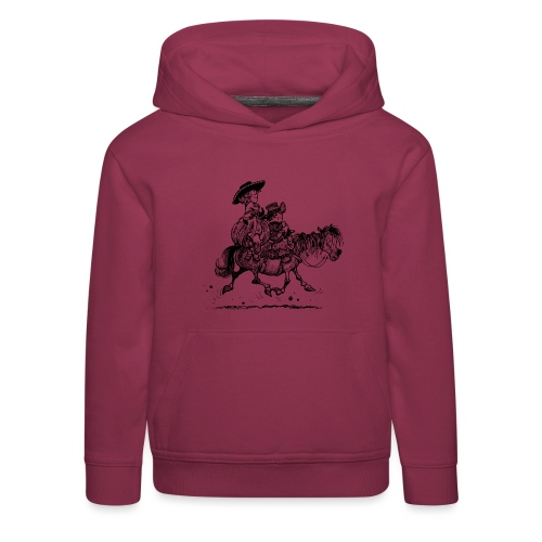 Thelwell Two Cowboys Reiten - Kinder Premium Hoodie