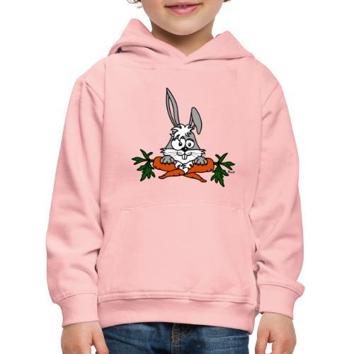 Lapin avec carottes, végétarien, végan - Pull à capuche Premium Enfant