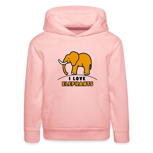 Elefant - I LOVE ELEPHANTS - Kinder Premium Hoodie