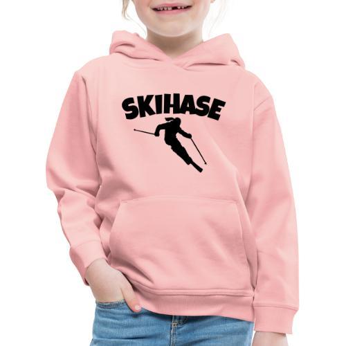 Skihase Ski Skifahrerin Wintersport - Kinder Premium Hoodie