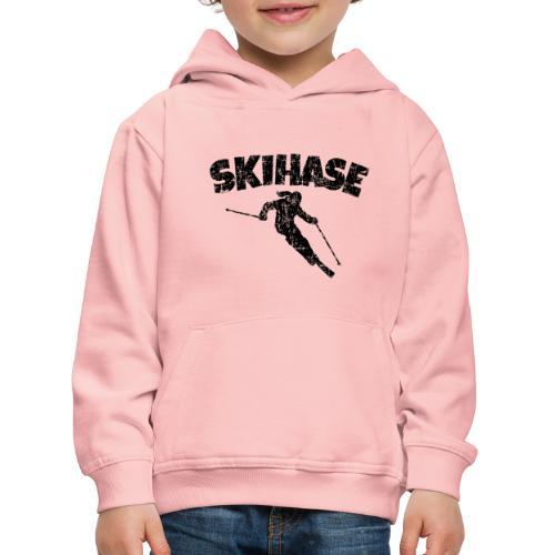 Skihase (Vintage/Schwarz) Ski Skifahrerin - Kinder Premium Hoodie