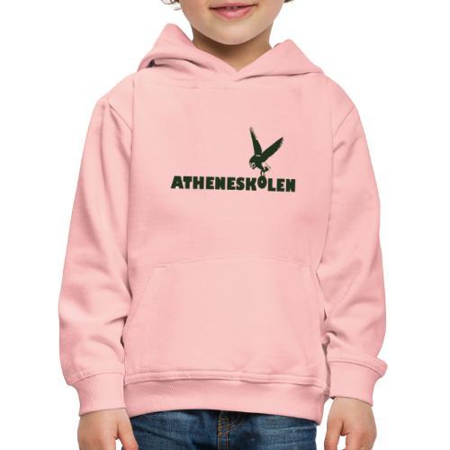 Mørkt logo - Premium hættetrøje til børn
