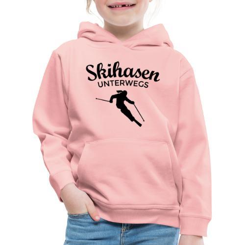 Skihasen Unterwegs Ski Skier Skifahrerin - Kinder Premium Hoodie
