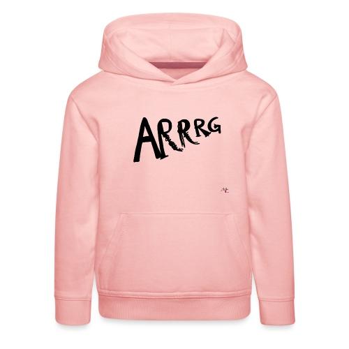 Arrg - Felpa con cappuccio Premium per bambini