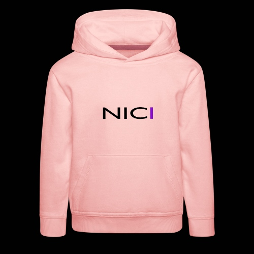NICI logo Black - Lasten premium huppari