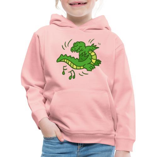dancing crocodile - Premium-Luvtröja barn
