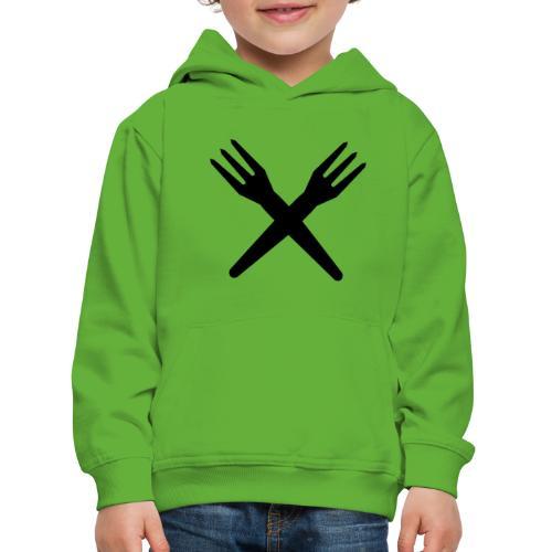gekruiste frietvorken - trident - Pull à capuche Premium Enfant