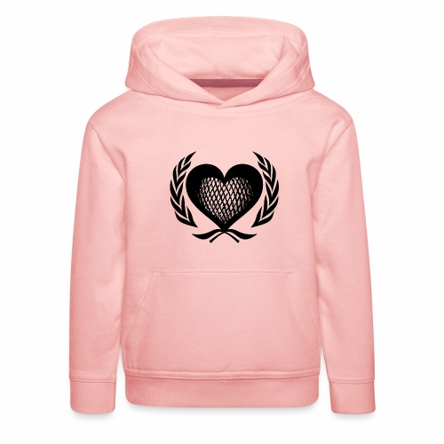 Herz Kranz Gitter Netz Logo Emblem Geschenkidee - Kinder Premium Hoodie