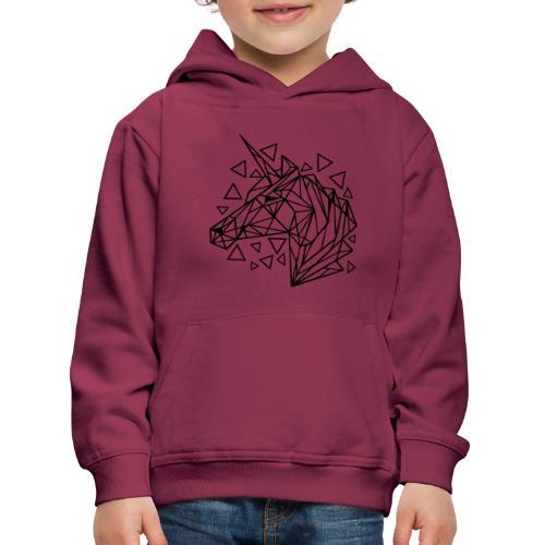 unicornio minimalista - Sudadera con capucha premium niño