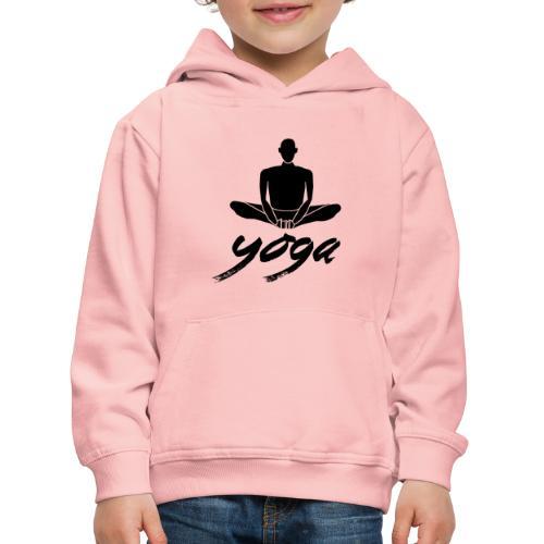 yoga nero yogi namaste pace amore arte hippie - Felpa con cappuccio Premium per bambini