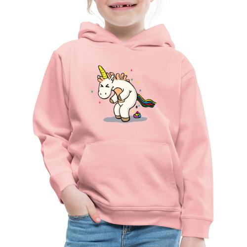 Mrs Poopy pooping - Pull à capuche Premium Enfant