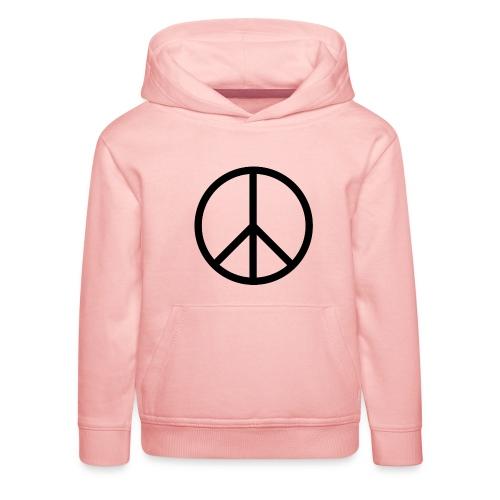 Peace Make love not war - Kinderen trui Premium met capuchon