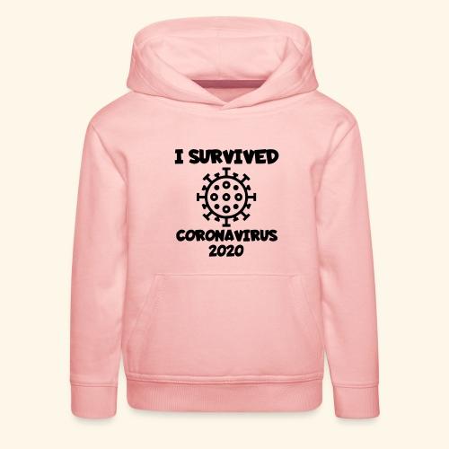 Ik heb het corona virus overleeft - Kinderen trui Premium met capuchon