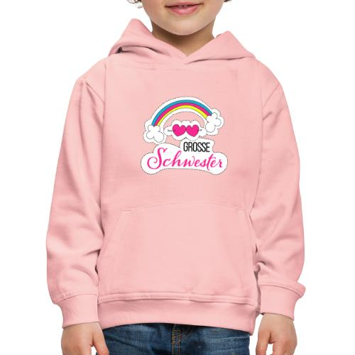 Große Schwester Regenbogen - Kinder Premium Hoodie