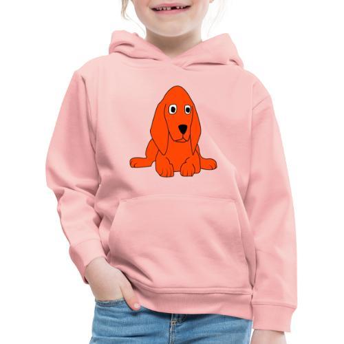 orange dog - Felpa con cappuccio Premium per bambini