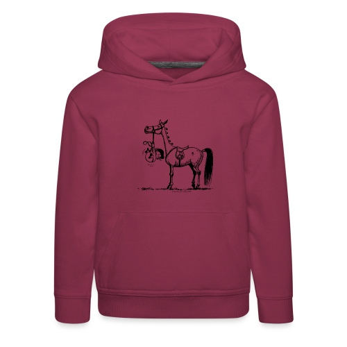 Thelwell Cartoon Stures Pony - Kinder Premium Hoodie