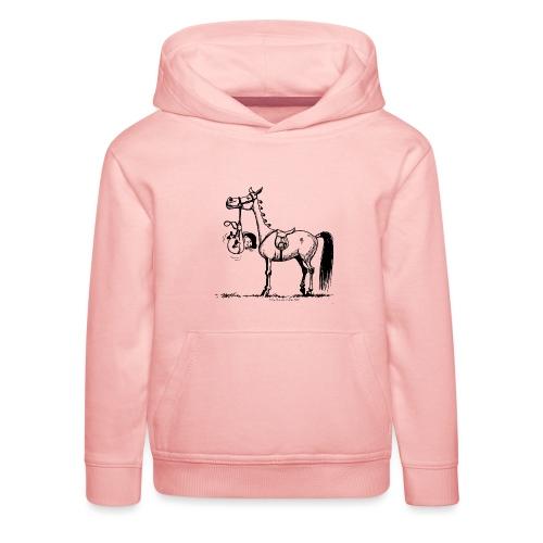 Thelwell Cartoon Stures Pony - Kinder Premium Hoodie