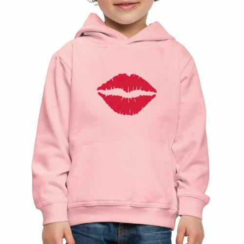 Lippen - Kinderen trui Premium met capuchon