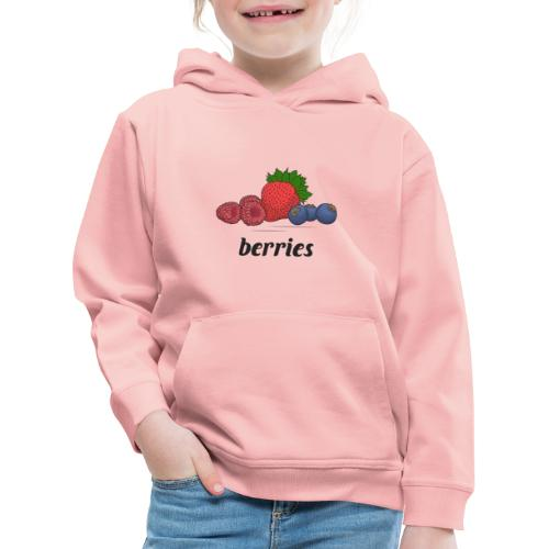 berries, fruit, blooms and berries, lingonberry - Kids' Premium Hoodie