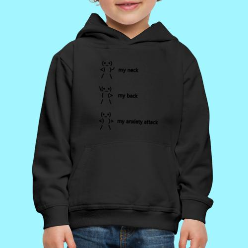 neck back anxiety attack - Kids' Premium Hoodie