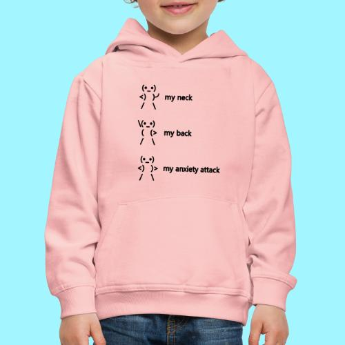 neck back anxiety attack - Kids' Premium Hoodie