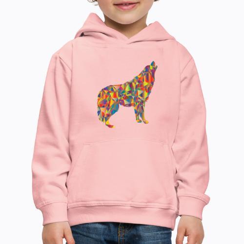 howling colorful - Kids' Premium Hoodie