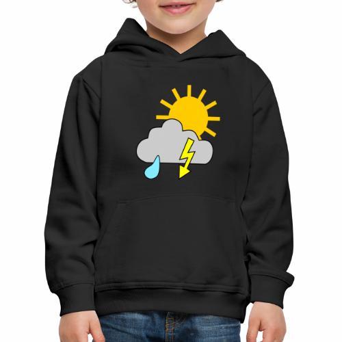 Sun - rain - thunderstorm - Kids' Premium Hoodie