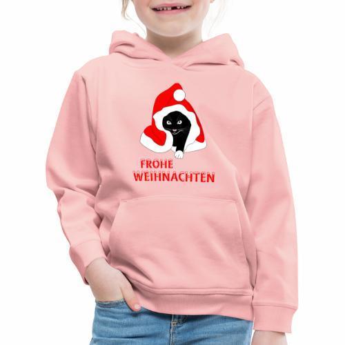 Frohe Weihnachten - Schwarze Katze - Pull à capuche Premium Enfant