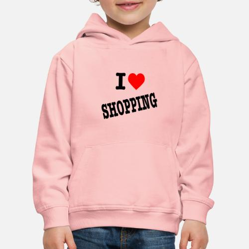 I Love Shopping (Ik Hou van Winkelen) - Kinderen trui Premium met capuchon