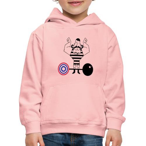 uomo_forzuto3-0 - Felpa con cappuccio Premium per bambini