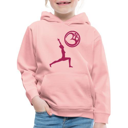 Der Held Yoga Asana Warrior mit OM Symbol Cool - Kinder Premium Hoodie