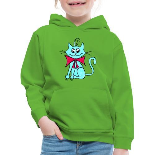 Katze blau - Kinder Premium Hoodie