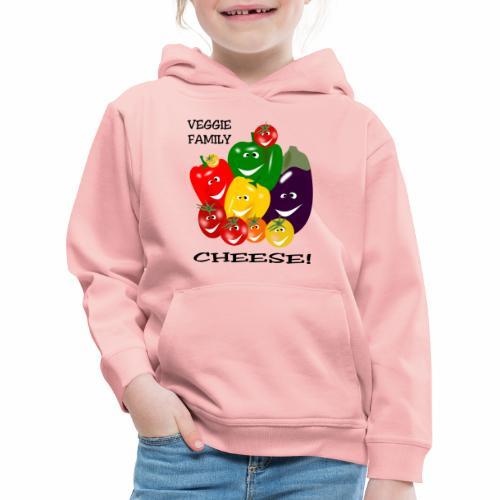 Veggie Family - Cheese - Kids' Premium Hoodie