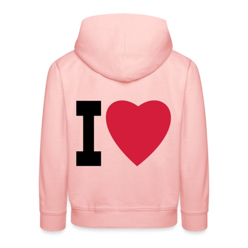 create your own I LOVE clothing and stuff - Kids' Premium Hoodie