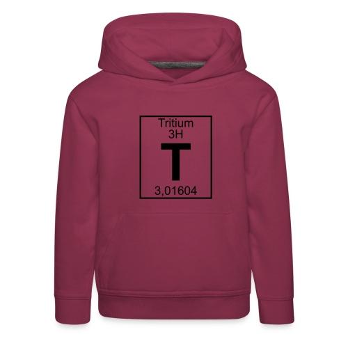 T (tritium) - Element 3H - pfll - Kids' Premium Hoodie