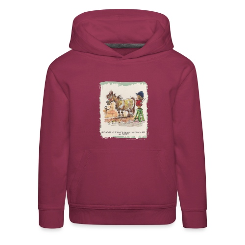 Thelwell Cartoon Pony beim Friseur - Kinder Premium Hoodie