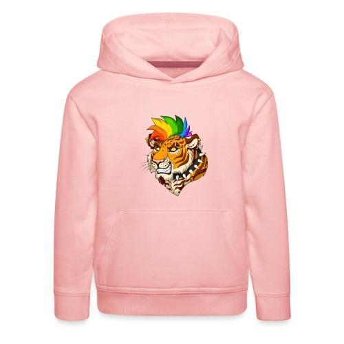 Punk Tiger - Bluza dziecięca z kapturem Premium