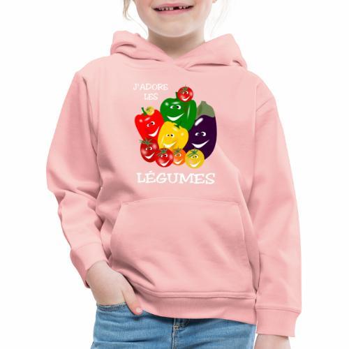 I love vegetables - Kids' Premium Hoodie