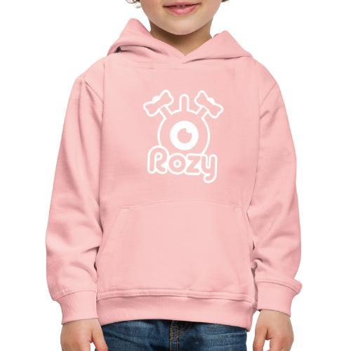 Rozy Label (White) - Pull à capuche Premium Enfant
