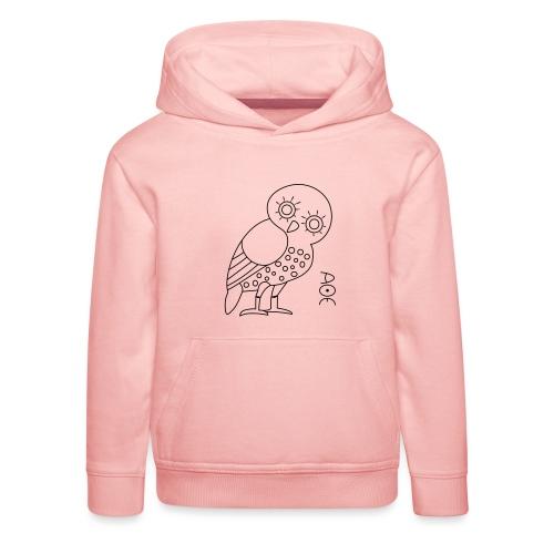 Owl of Athena - Kids' Premium Hoodie