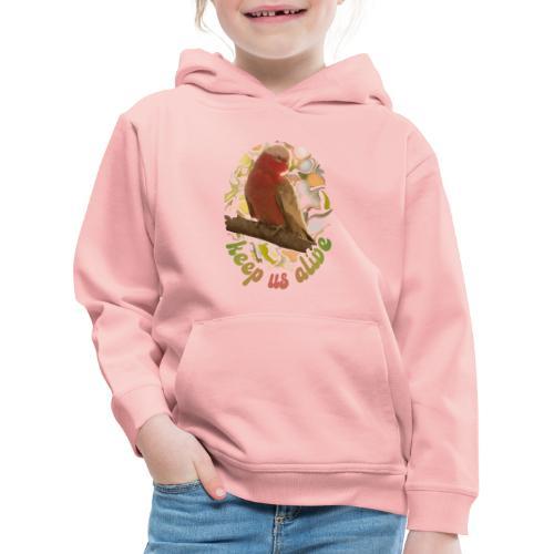 Galah Parrot Keep Us Alive 70s background - Kids' Premium Hoodie