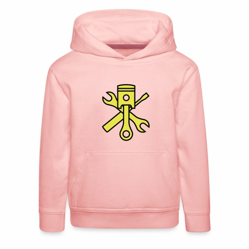 Pistons and tools 2c (+ your text) - Kids' Premium Hoodie