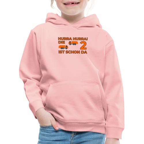 Drugie urodziny Śmieciarka - Bluza dziecięca z kapturem Premium