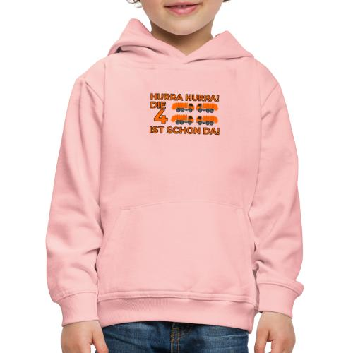 Czwarte urodziny śmieciarka - Bluza dziecięca z kapturem Premium