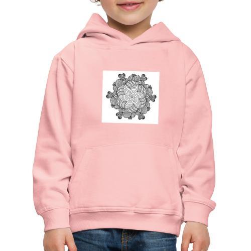 Mandala, weiß-schwarz - Kinder Premium Hoodie