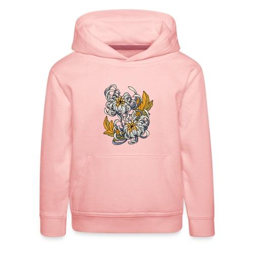 Chrysanthèmes enlacés - Pull à capuche Premium Enfant