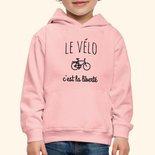 Le vélo c'est la liberté - Pull à capuche Premium Enfant