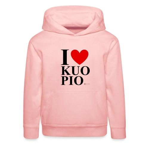 I LOVE KUOPIO ORIGINAL (musta) - Lasten premium huppari